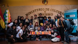 Meeting artists in Bolivia